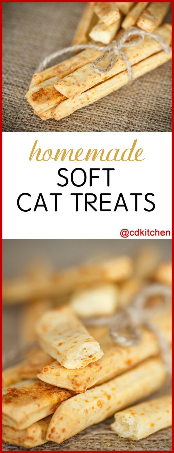 Soft Cat Treats Made with flour, cheddar cheese