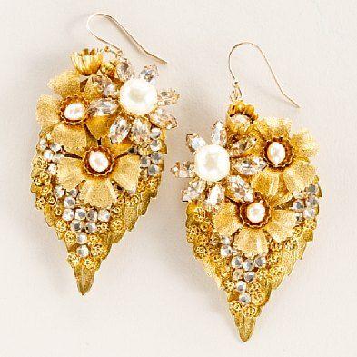 Miriam Haskell leaf earrings