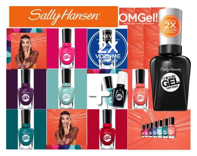 """""""No Light Gel: Nail It in 2 Steps with Sally Hansen® Miracle Gel™: Contest Entry"""" by shoupoupi on Polyvore featuring beauté et Sally Hansen"""