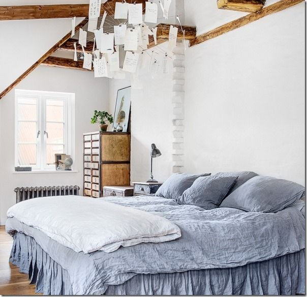 Camera Stile Loft Industriale e Shabby Chic Home bedroom