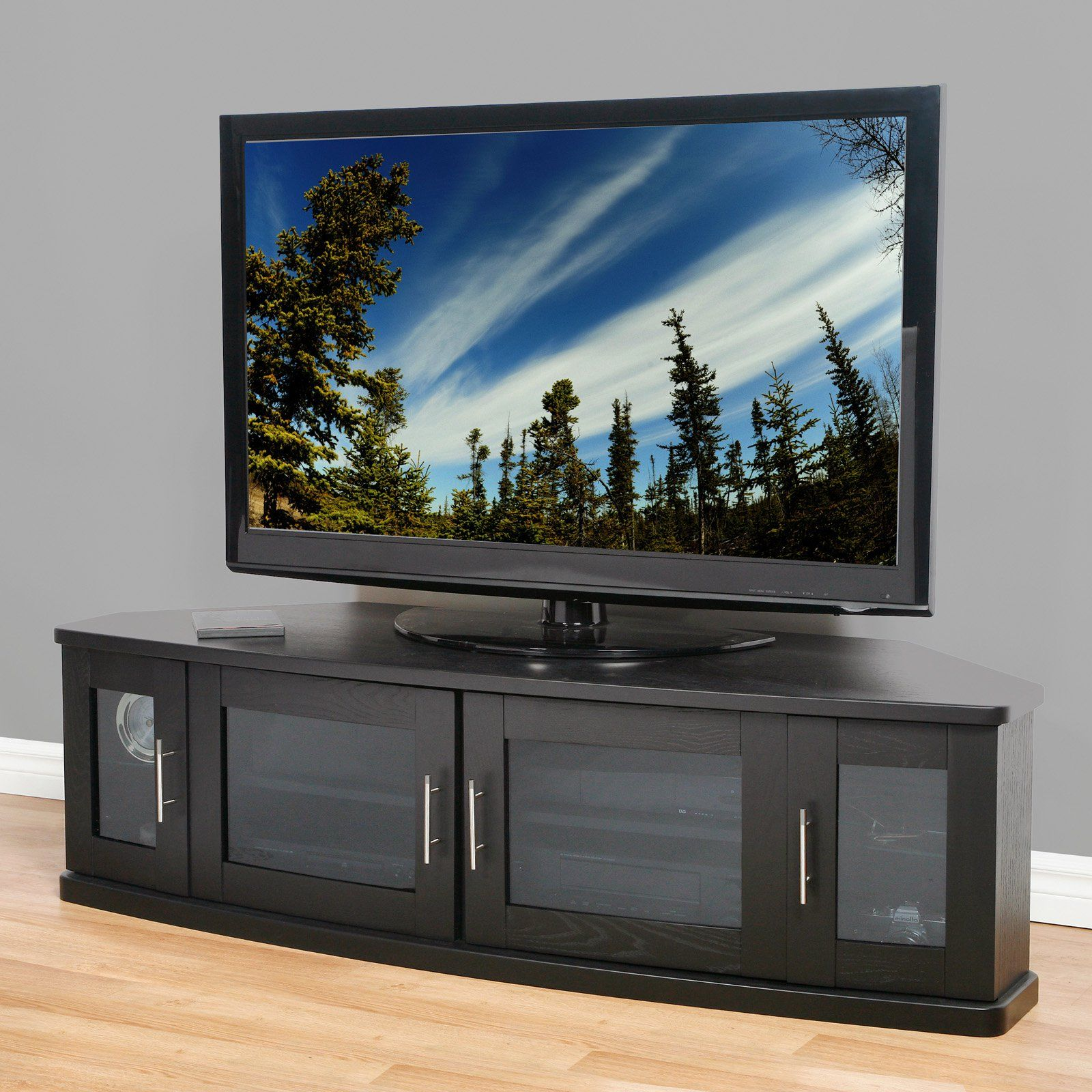 online store 03ac3 8e756 Plateau Newport 62 Inch Corner TV Stand in Black | Products ...