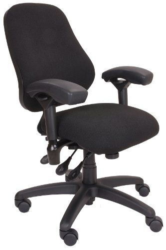 Bodybilt J2406 Black Fabric High Back Petite Task Chair With Arms