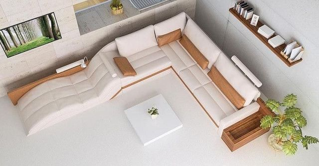 Advanced Adjustable Corner Sectional L Shape Sofa   Modern   Sectional Sofas    Miami   Prime Classic Design