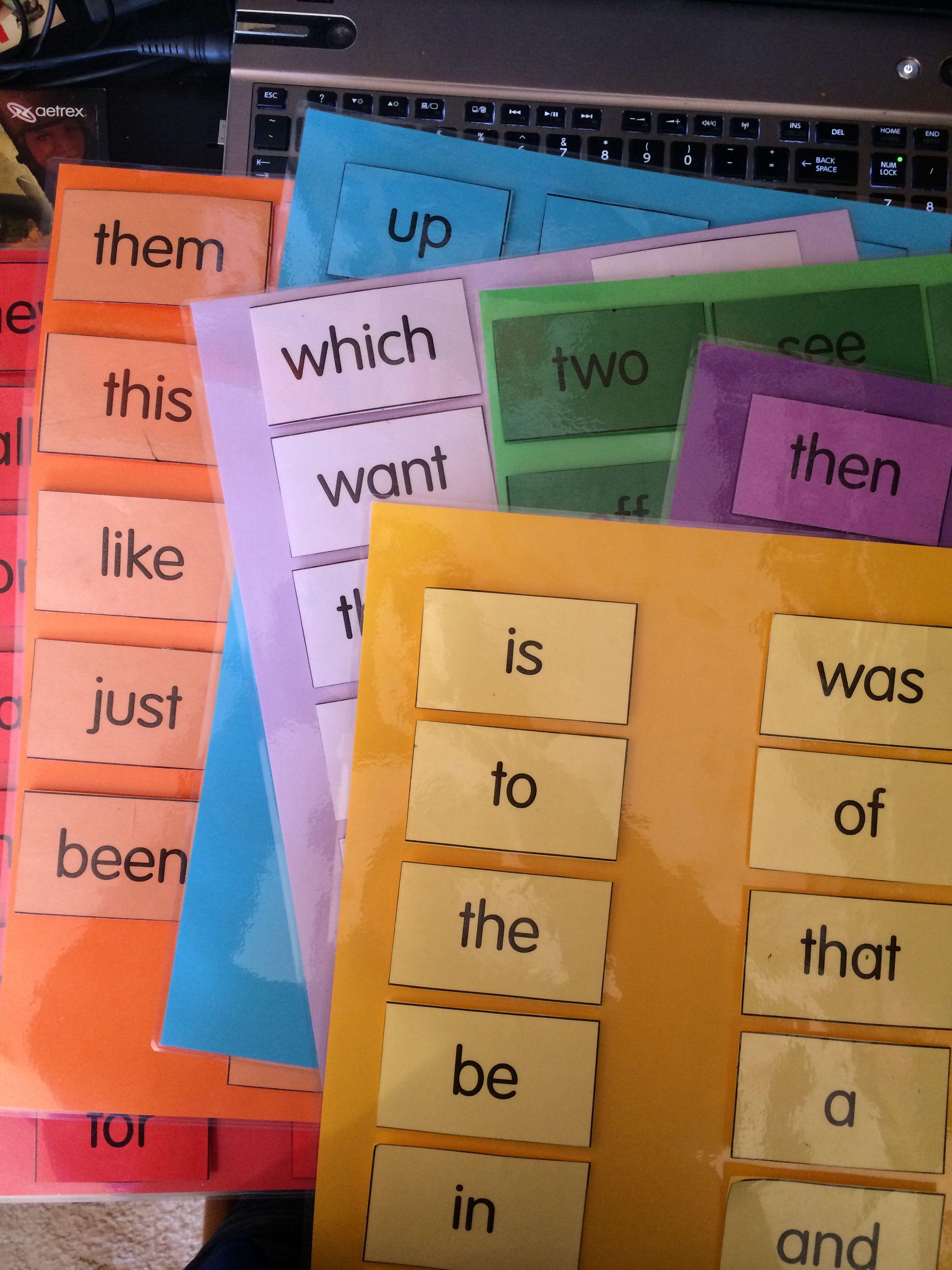 New Word Wall Sheets Bright And Cheerful Magic Words Sets Literacy