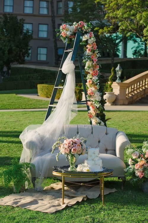 Romantic Outdoor Lounge Areas | Wedding props, Wedding ...