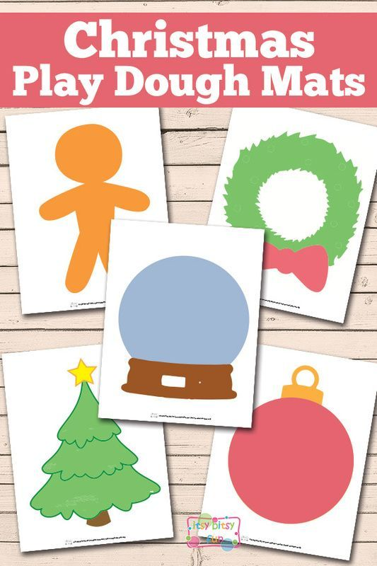Christmas Play Dough Mats Free Printable Play Dough