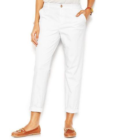 3faebfb0da177 Maison Jules Cropped Straight-Leg Lou Lou Pants - Pants - Women - Macy s