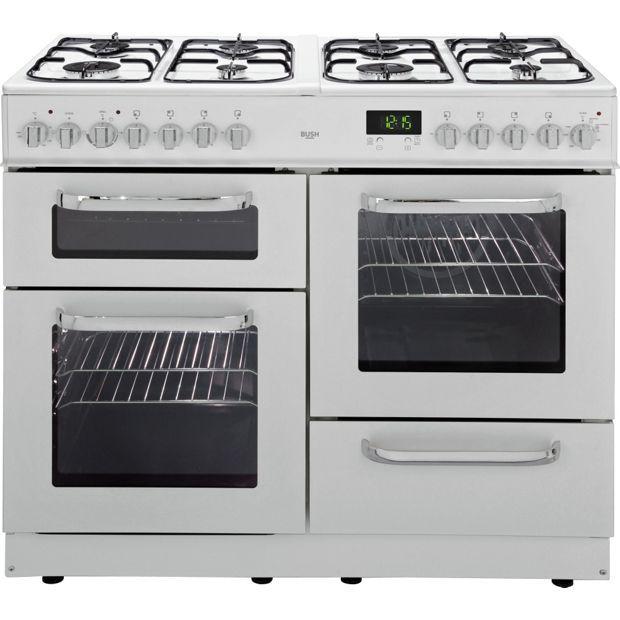 Buy Bush BCL100DFW Dual Fuel Range Cooker White at Argos