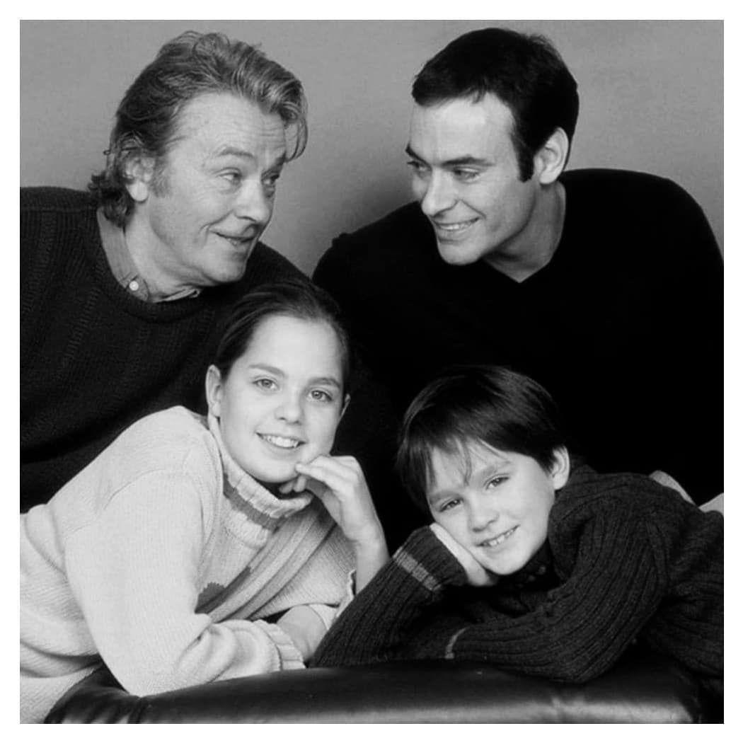 𝐀𝐥𝐚𝐢𝐧 𝐃𝐞𝐥𝐨𝐧 On Instagram Alain Alongside His Children Anthony Anouchka And Alain Fabien Anouchka Delon