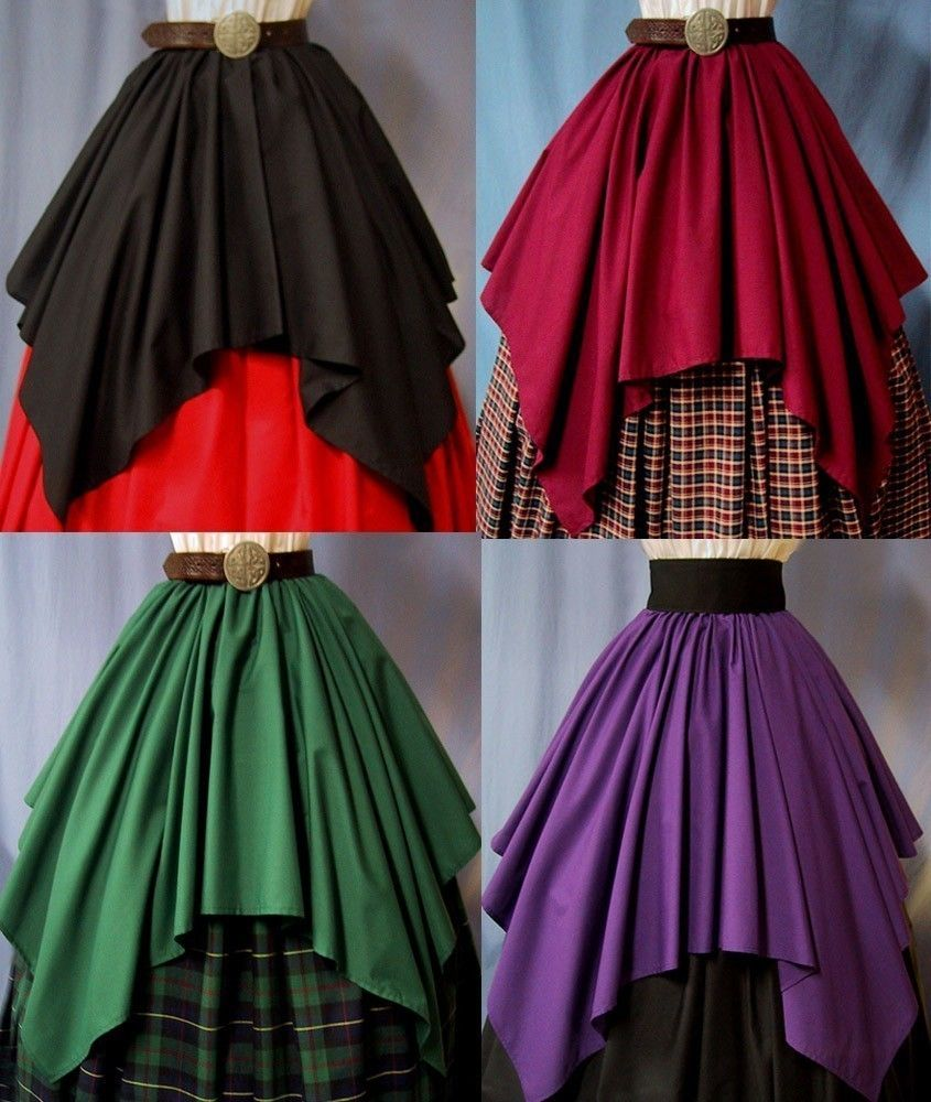 9708c6e87 Ren Faire Costumes   Overlay Skirt for Costume - Lots of Colors -  Renaissance Faire .