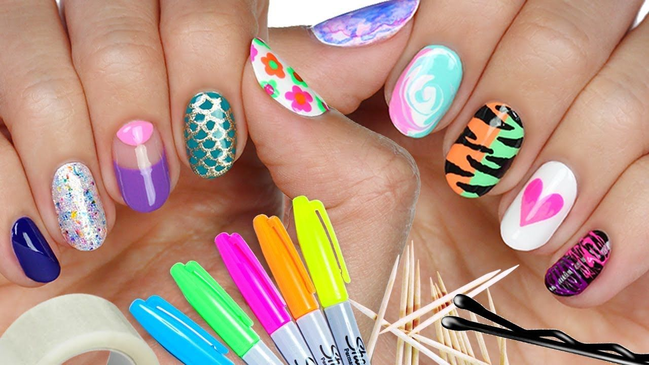 10 Nail Art Designs Using HOUSEHOLD ITEMS! | The Ultimate Guide #4 ...