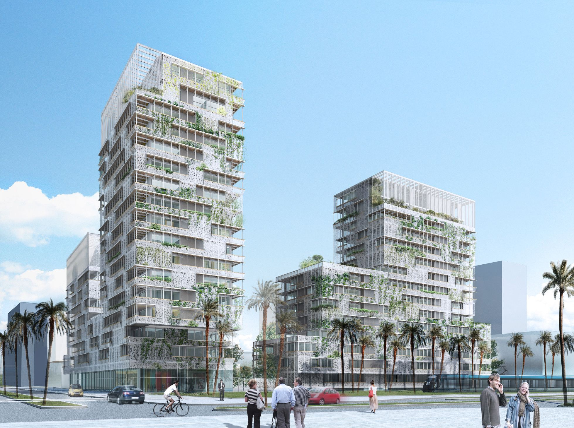 Casablaca Anfa Herreros Arquitectos' Proposal for a MixedUse Building in Morocco is part of Buildings sketch architecture - Designed by Herreros Arquitectos in Casablanca,Morocco Herreros Arquitectosjust sent us their recent project for a mixeduse building in Casablanca, Morocco  Resulting fro