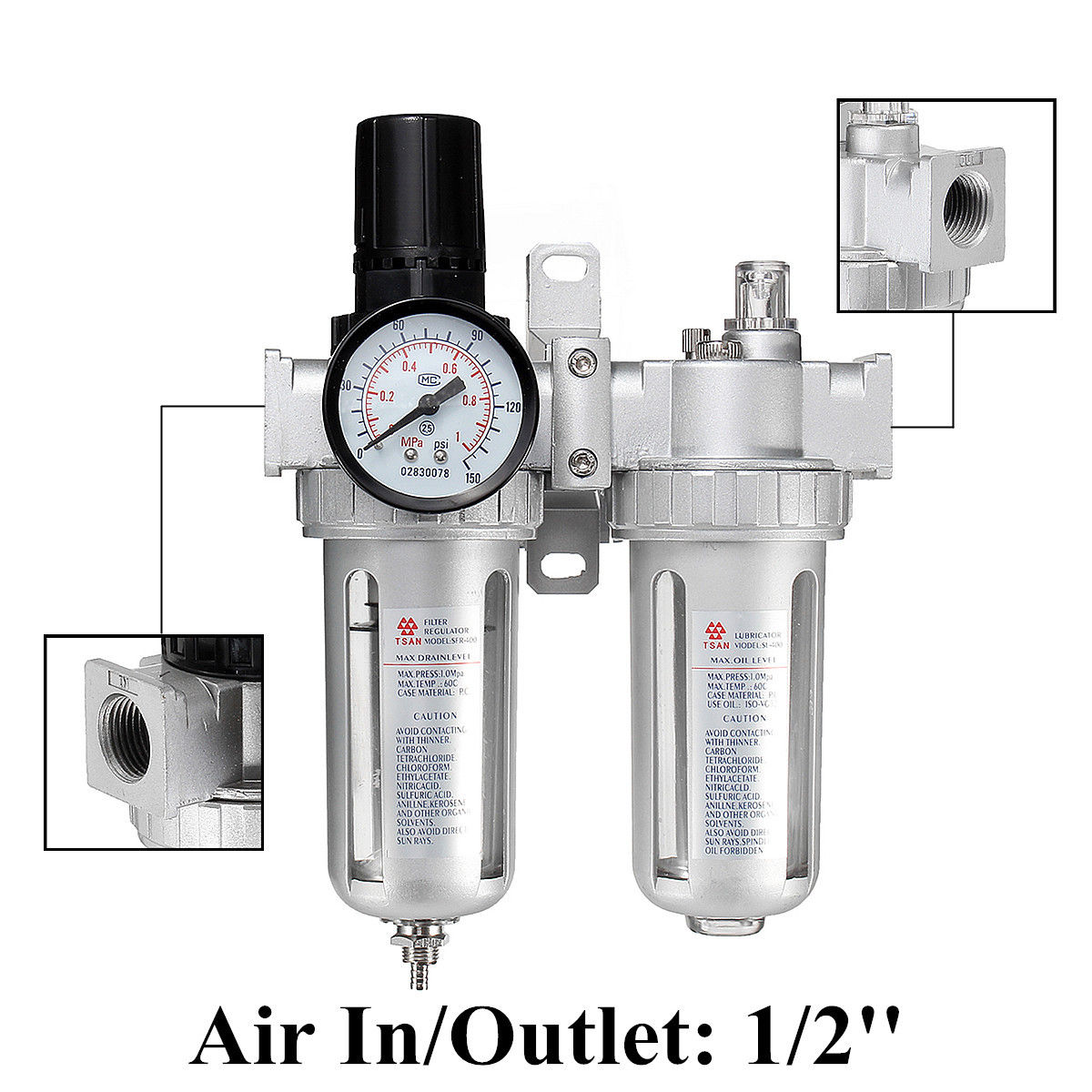Air Compressor Filter, Regulator & Lubricator Combos Home