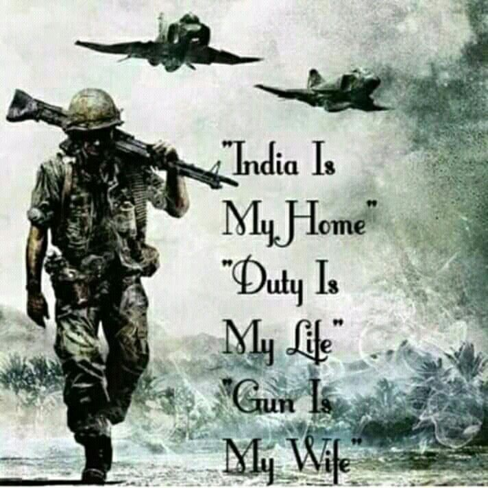 Fighting For Mother Indian Armed Forces