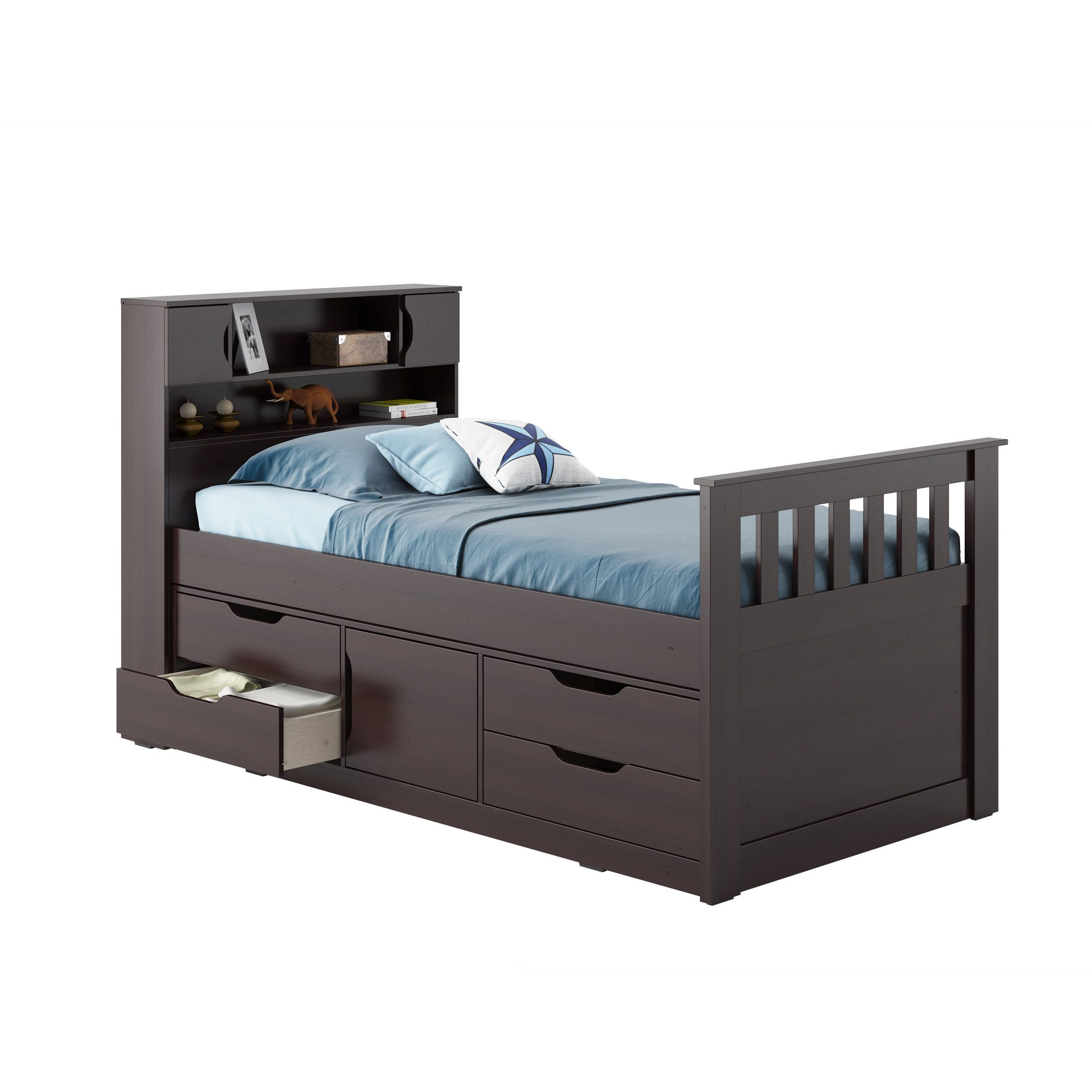 CorLiving Madison Twin/ Single Captain's Bed (White