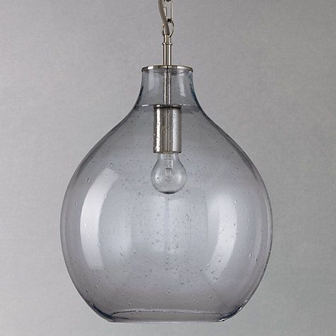 Croft Collection Selsey Glass Ceiling Pendant Light Blue Glass - Kitchen pendant lighting john lewis