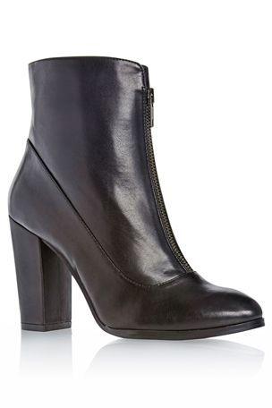Leather heeled boots, Fashion shoes
