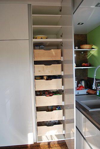 vorratsschrank mit innenausz gen einrichten pinterest. Black Bedroom Furniture Sets. Home Design Ideas