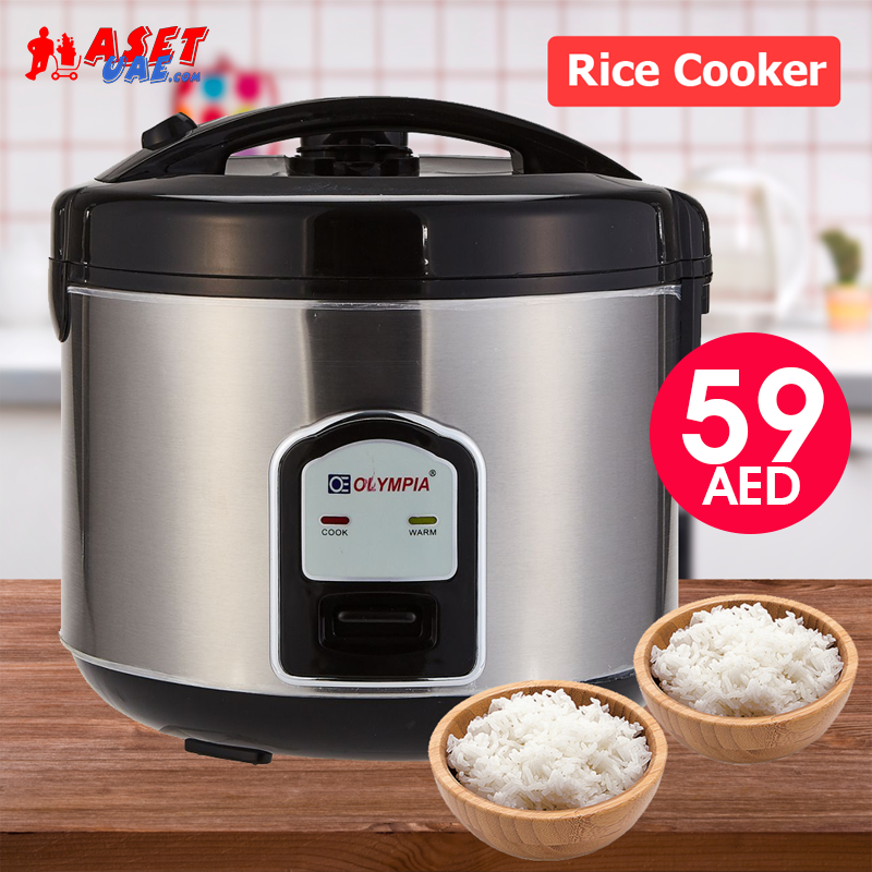 Olympia 2.0 Liter Rice Cooker With Steamer, OE-400