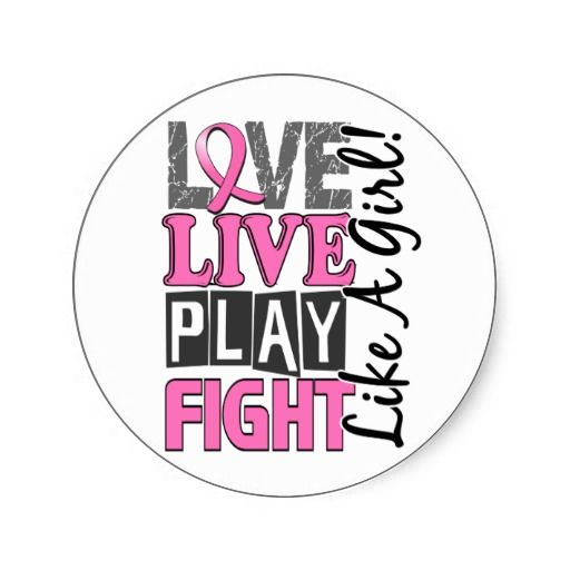 Love Live Play Fight Like A Girl Breast Cancer Round Sticker
