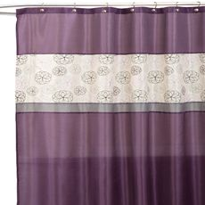 Covina Purple And Ivory 72 X 72 Shower Curtain Bed Bath