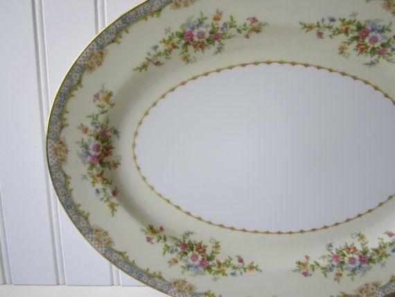 Vintage Noritake Spring Flower Large Platter