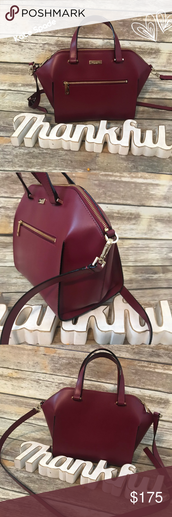 559862de368c Kate Spade Savannah Parliament Square Satchel❤ Beautiful and roomy bag Top  zipped closure smooth