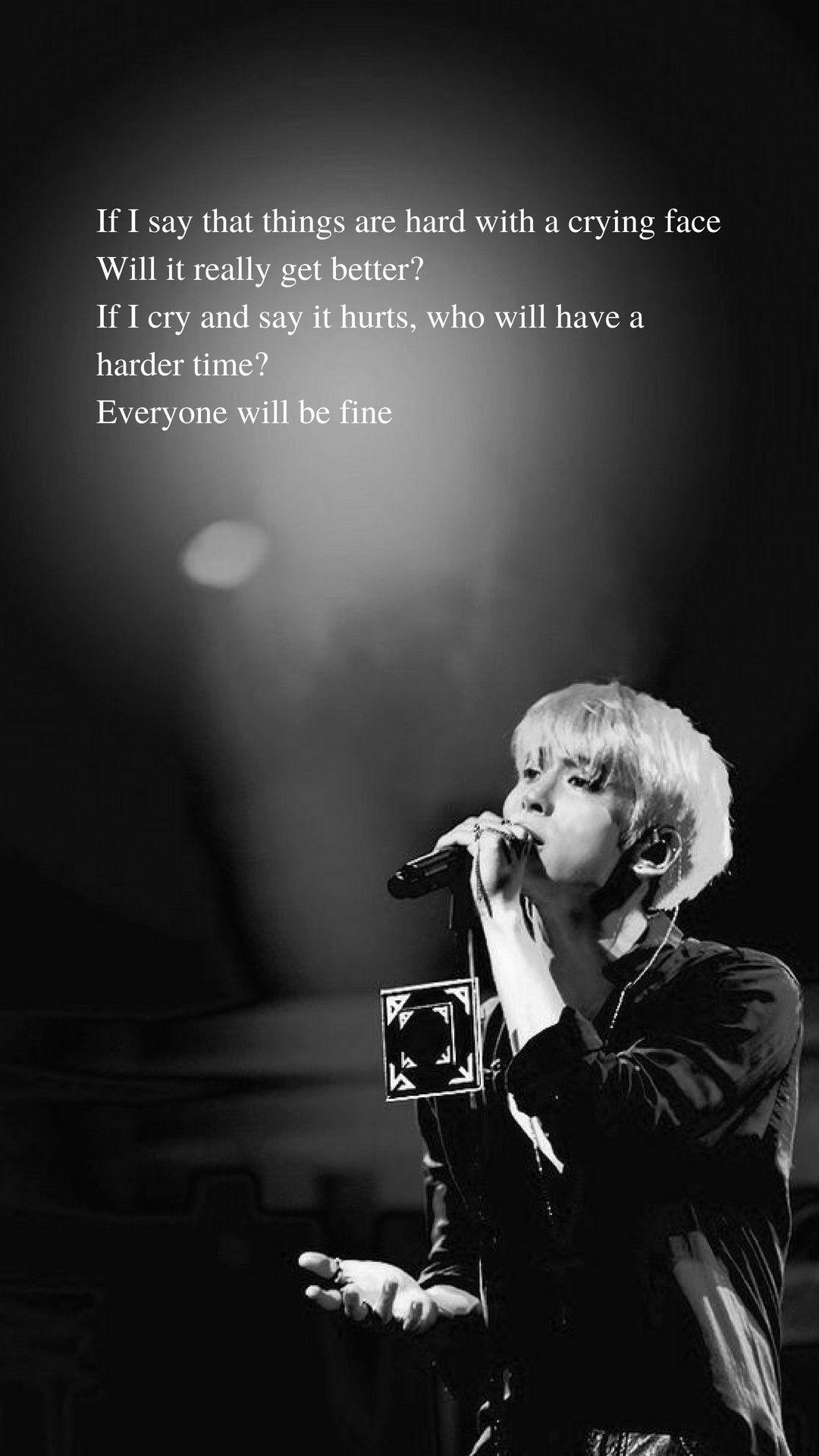 Lonely (Jonghyun) lyrics wallpaper