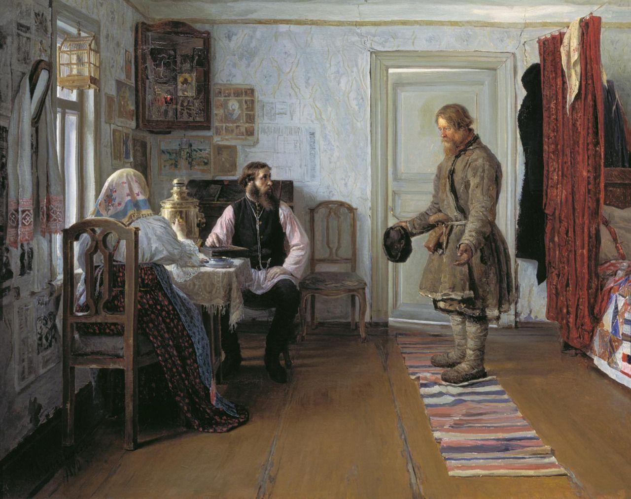 Иван Петрович Богданов. За расчетом. 1890