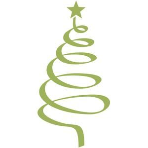 Silhouette Design Store View Design 107764 Christmas Tree Spiral Silhouette Cameo Christmas Christmas Tree Cards Silhouette Design