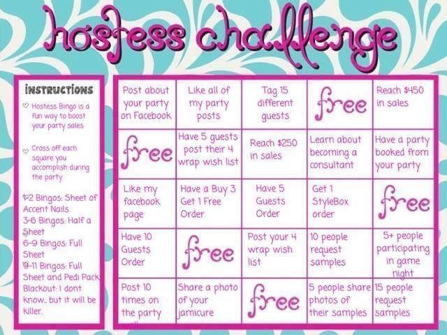 Online hostess challenge bingo jamberry parties pinterest nail wraps stopboris Images