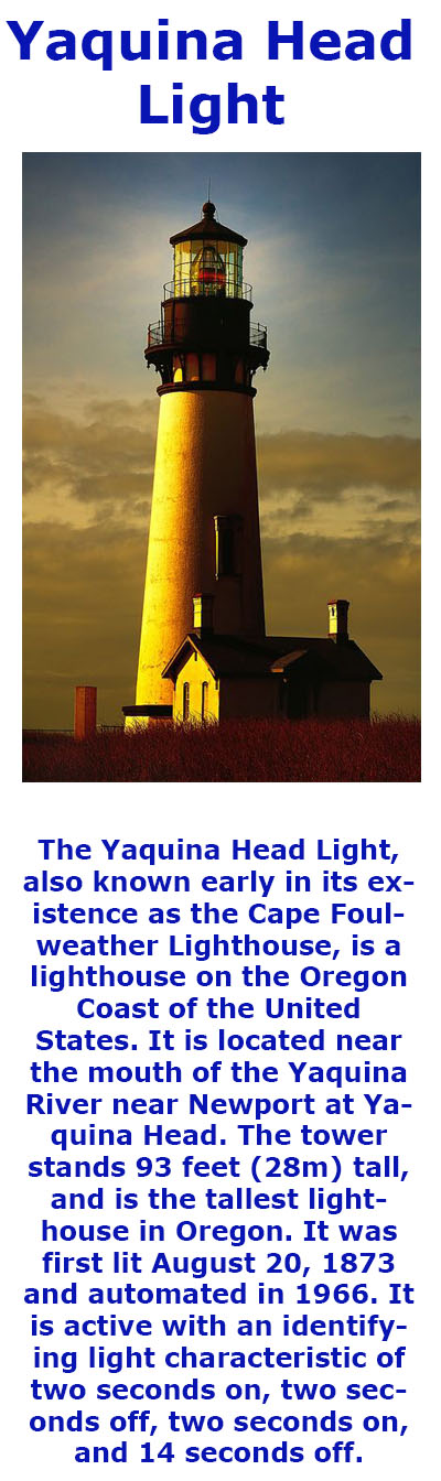 Yaquina Head Light - The tallest lighthouse in Oregon.