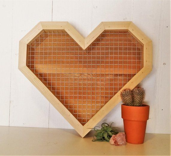 Large Heart Shaped Succulent Picture Frame Planter Succulent Wall