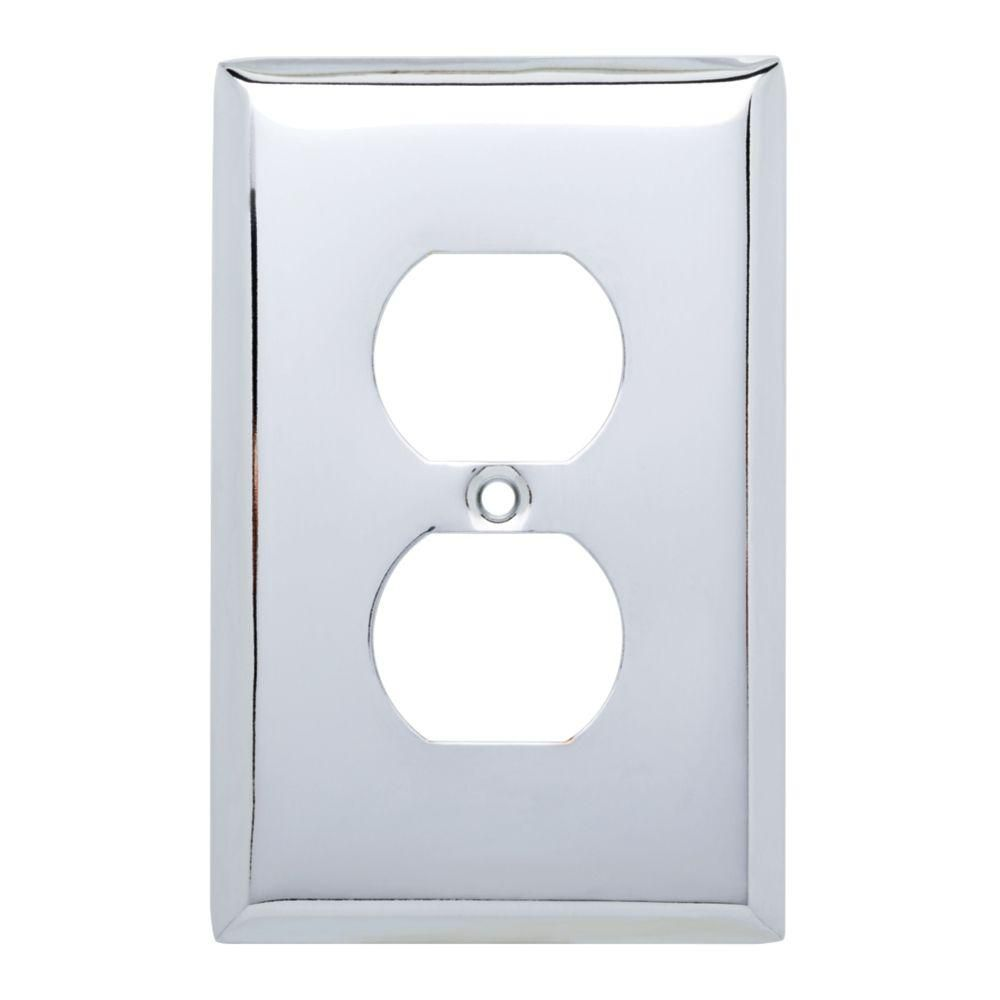 Hampton Bay Stamped Square Decorative Single Duplex Outlet Cover