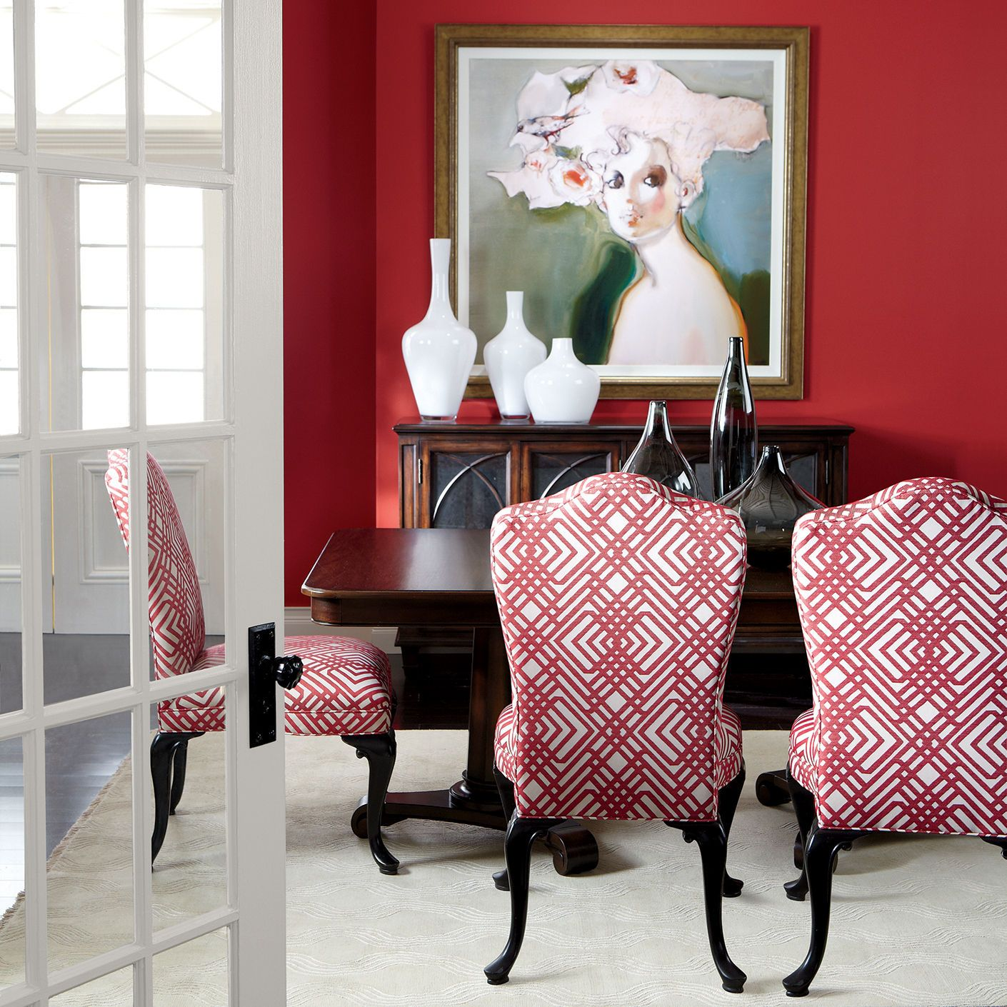 Edwin Dining Chair Arm Host Chairs Bright Dining Rooms Decor Red Dining Room #red #living #room #tables