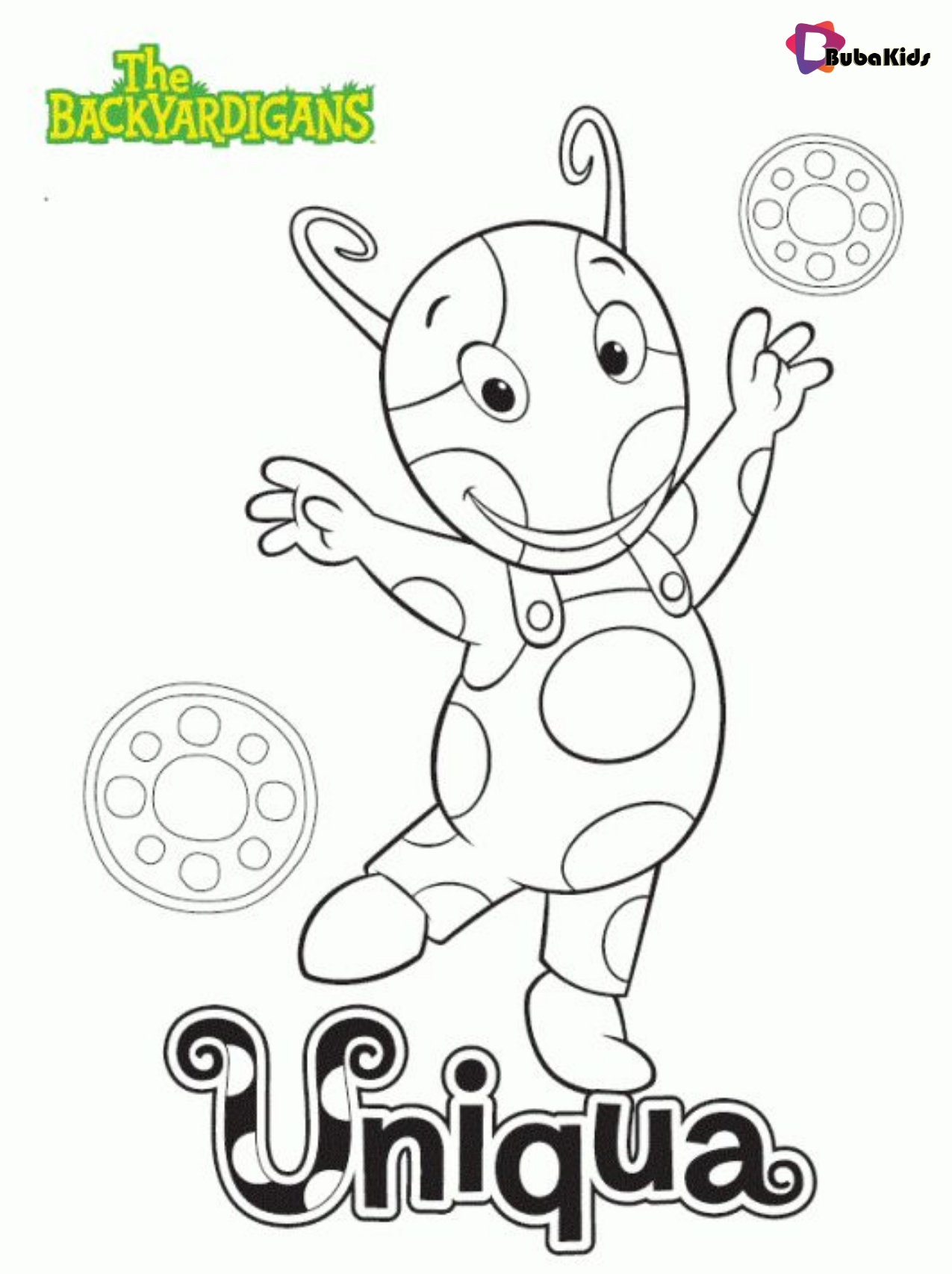 Uniqua From The Backyardigans Printable Coloring Pages Bubakids Com Backyardigans Bu Nick Jr Coloring Pages Cartoon Coloring Pages Printable Coloring Pages