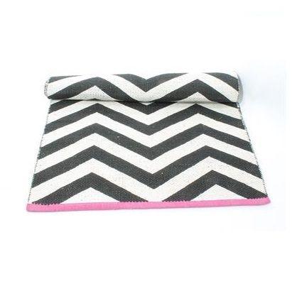 Teppich läufer schwarz weiß  Läufer, Zick-Zack-Muster, schwarz-weiß | Teppich | Pinterest