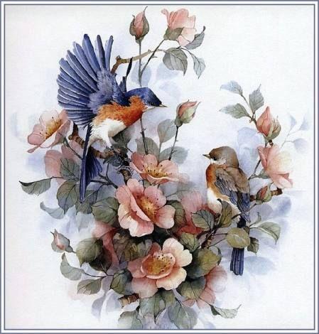 BELLISSIMI!! Botanico Acquerello Pittura incorniciato da Sandra Mason.. Floreale ***