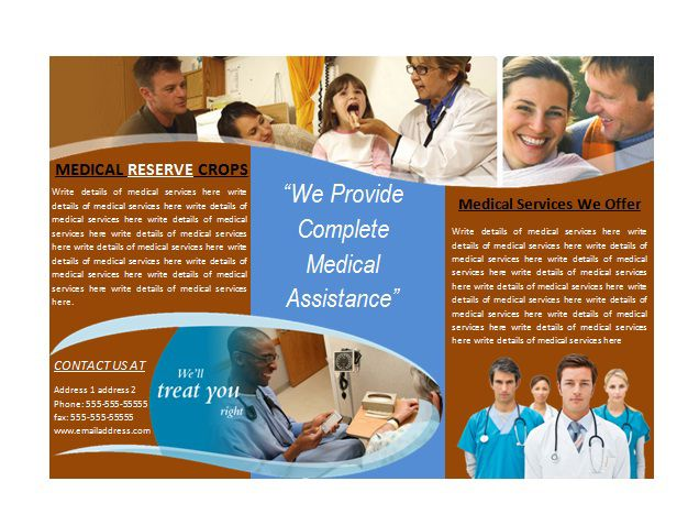 Medical office brochures medical brochure template for Ms office brochure templates