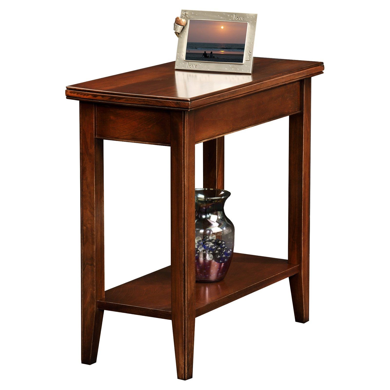 Leick Home Laurent Narrow Chairside End Table Wood End Tables Chair Side Table End Tables
