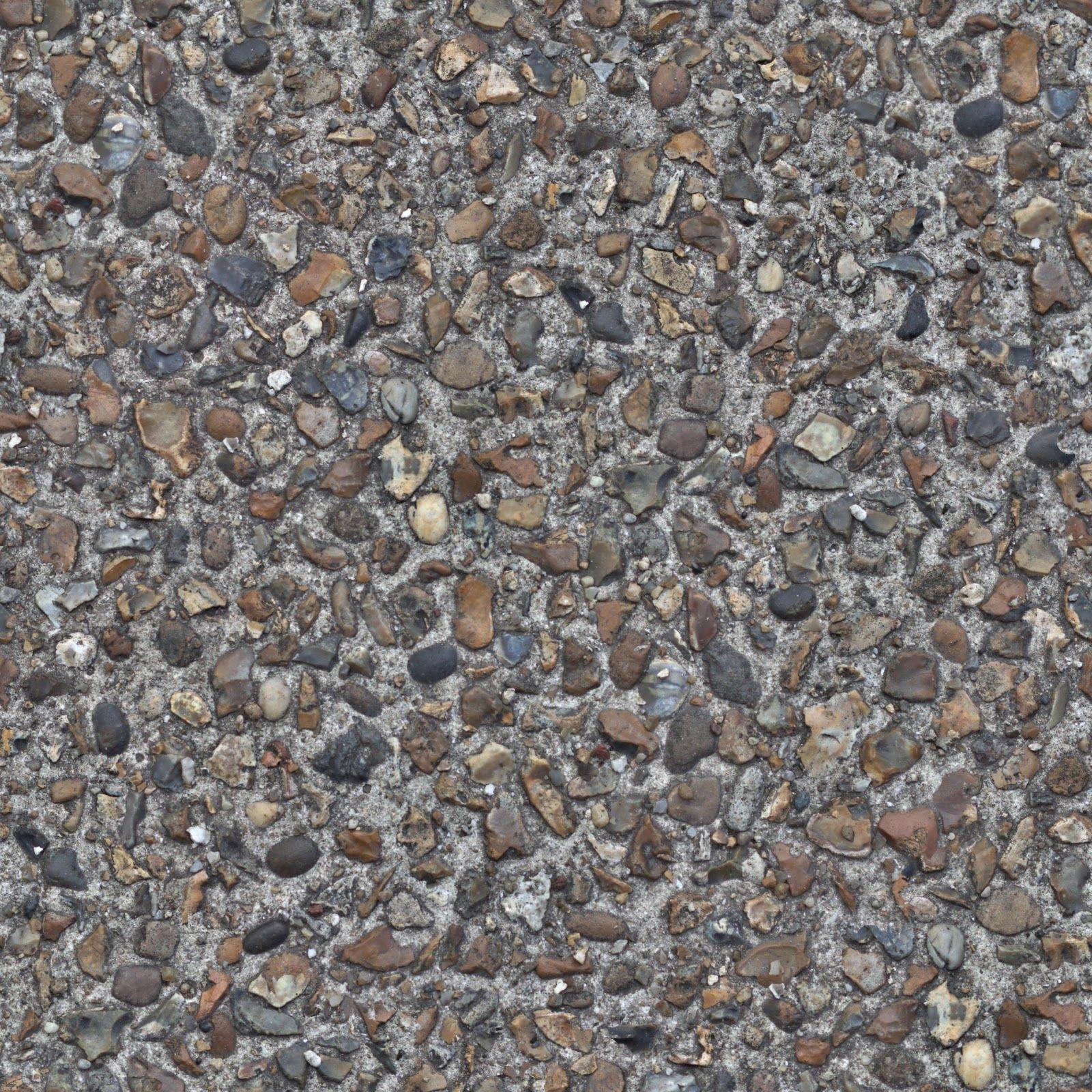 Seamless concrete cobble pebble stone texture 2048x2048 ...