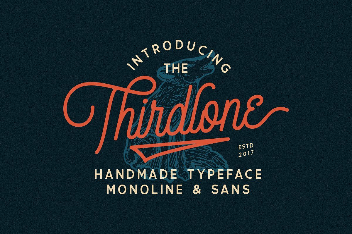 Thirdlone Font Duo & Vector Pack | Lettering, Lettering ...