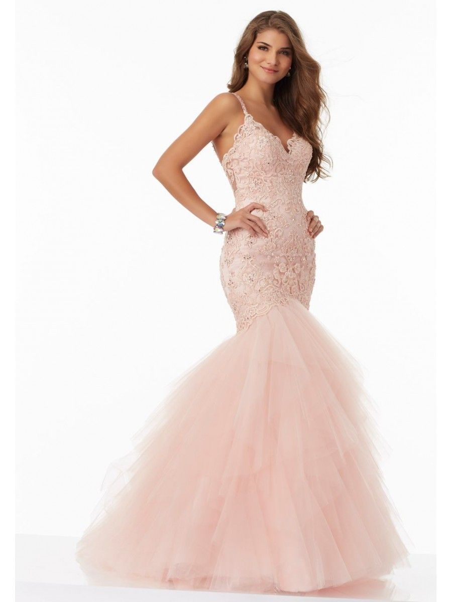 Mermaid Lace and Tulle Long Prom Dresses 5604033 | Special Occasion ...
