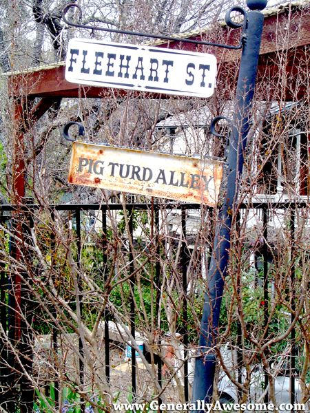Pig turd alley actual street name in amador city california pig turd alley is a funny name for a street as seen in this photo of a real street sign in amador city ca in amador county california sciox Gallery