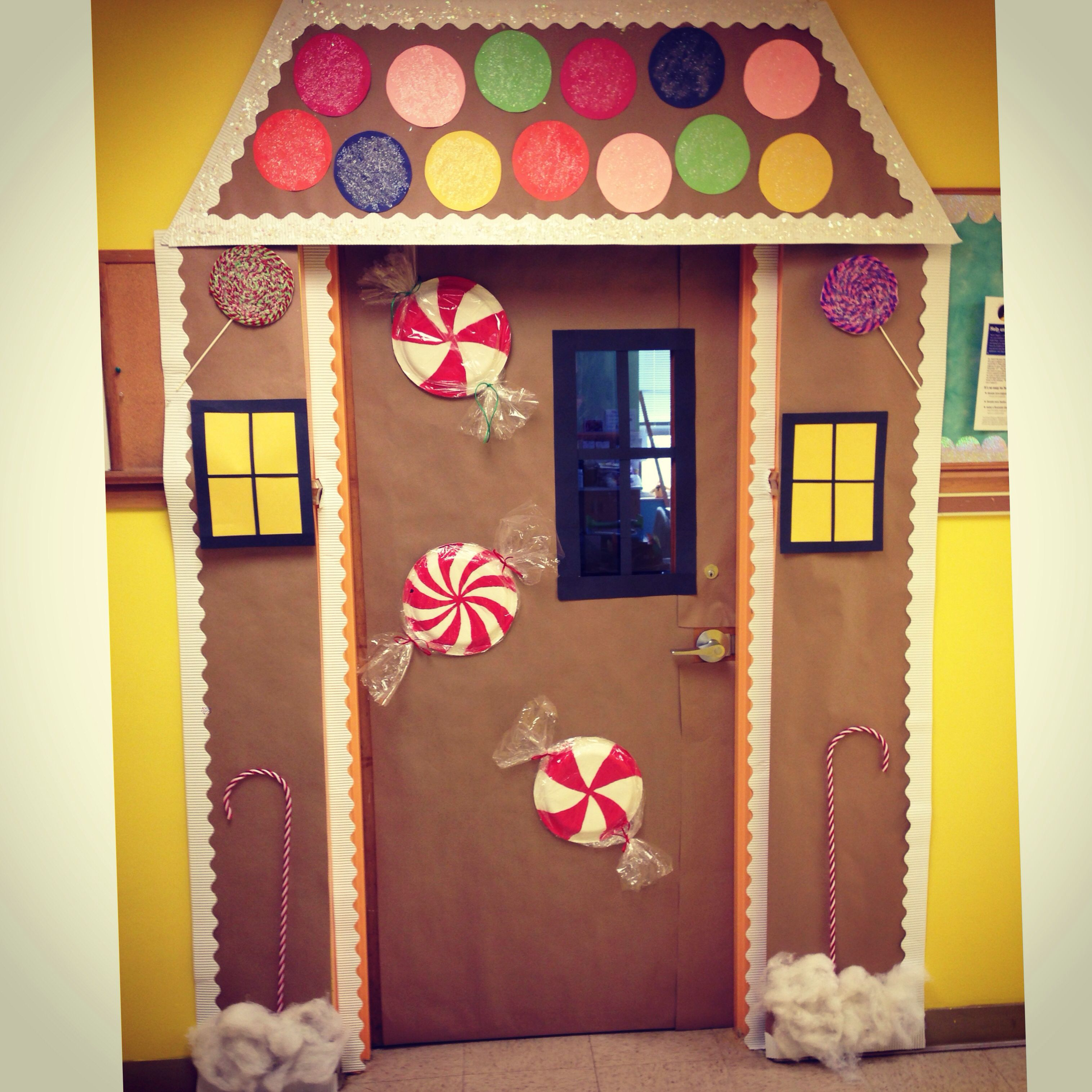 Our Door At School For Christmas Gingerbread House