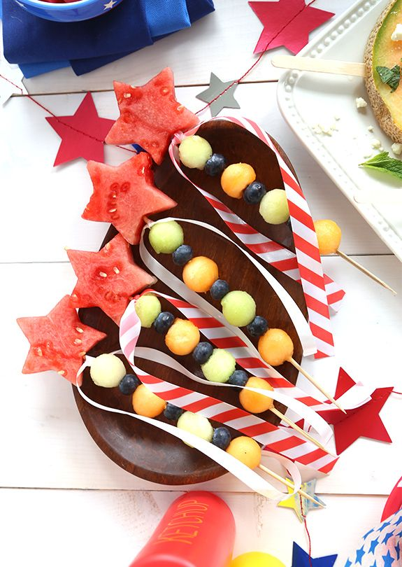 Summer Healthy treat Fruit skewer brochette Star Fairy party ++Pincho brocheta de fruta fresca postre sano verano Fiestas niños Tema princesa