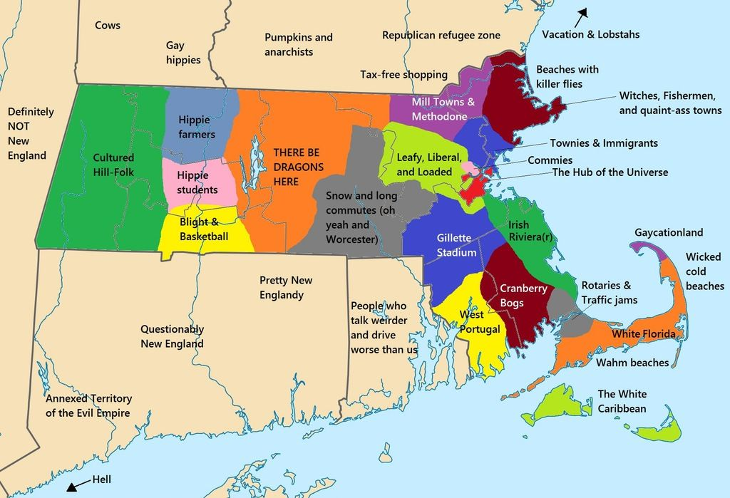 boston vs new york map meme This Massachusetts Stereotype Map Is Pretty Good X Post From R boston vs new york map meme