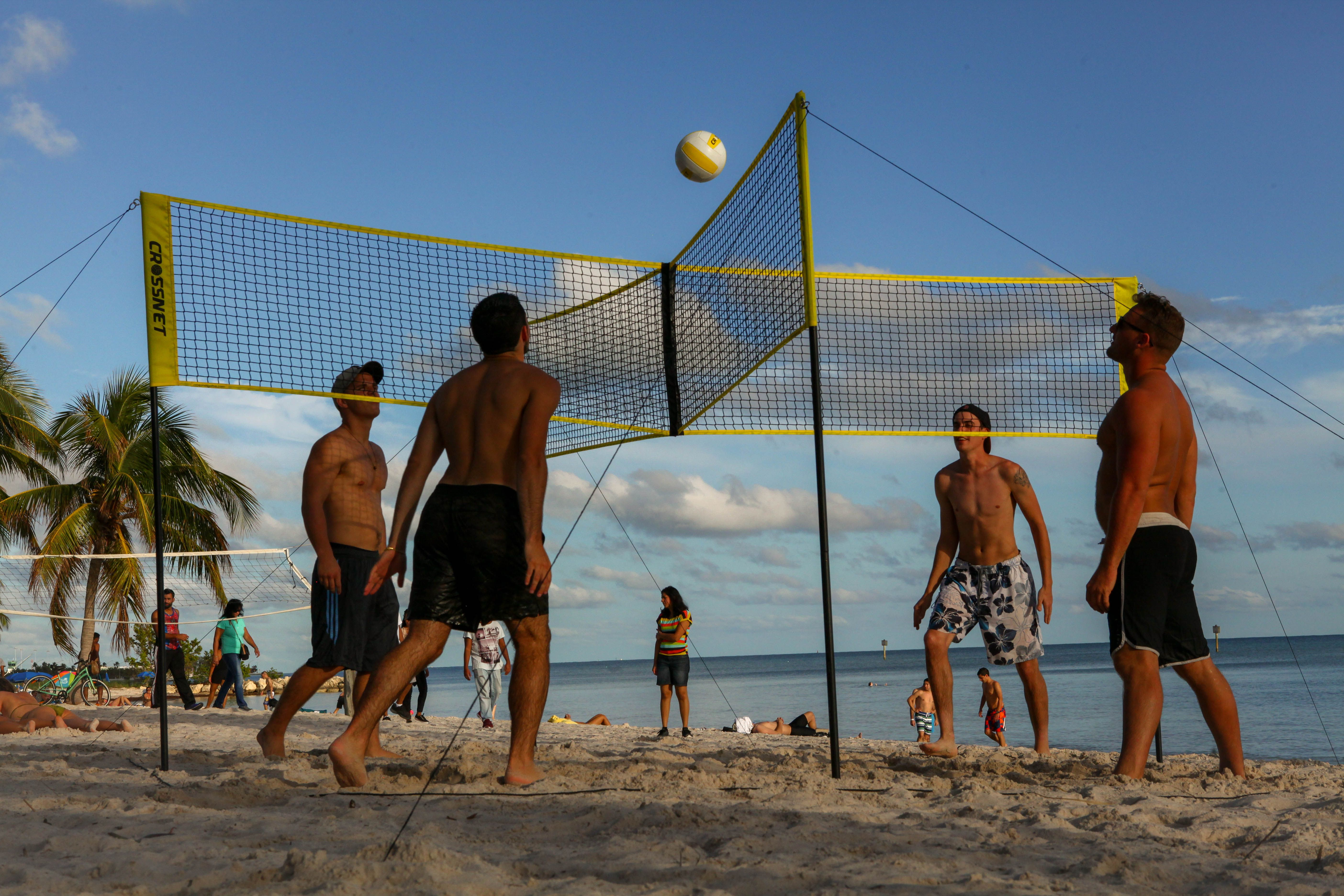 Crossnet Four Square Volleyball Basketball Court