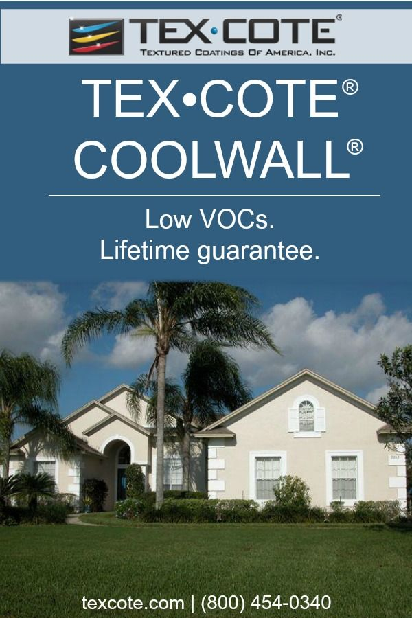 TEX\u2022COTE® #products have extremely low VOCs and are #green building