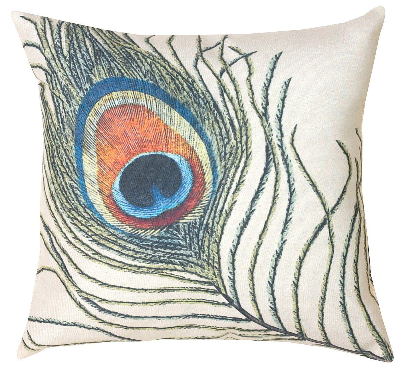 Peacock Feathers Decorative Pillow Pillows Peacock Pillow